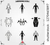 body icon in flat minimal...   Shutterstock .eps vector #1270465897