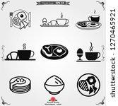 breakfast icon. vector symbol...   Shutterstock .eps vector #1270465921