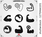biceps icon  muscle strength or ...   Shutterstock .eps vector #1270466101