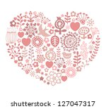 heart shaped valentine's day... | Shutterstock .eps vector #127047317