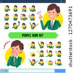 a set of school boy with... | Shutterstock .eps vector #1270473691