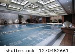 luxury swimming pool part of... | Shutterstock . vector #1270482661