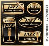 jazz radio labels | Shutterstock .eps vector #127048595
