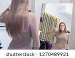 a beautiful woman shopping in a ...   Shutterstock . vector #1270489921