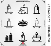 candle vector icon. light... | Shutterstock .eps vector #1270495837