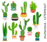 Cute Cactus Pots. Happy Face...