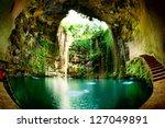 ik kil cenote  chichen itza ... | Shutterstock . vector #127049891
