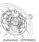 clock  mechanism  sketch  3d...   Shutterstock .eps vector #1270506811