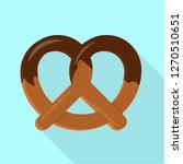 candy pretzel icon. flat...   Shutterstock . vector #1270510651