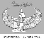 ancient egypt collection   gods ... | Shutterstock .eps vector #1270517911