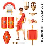 collection of ancient roman...   Shutterstock .eps vector #1270524091