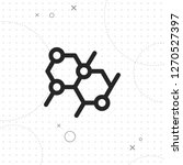 molecule icon  microbiological...   Shutterstock .eps vector #1270527397