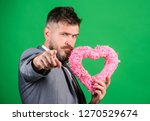 happy valentines day. hipster... | Shutterstock . vector #1270529674