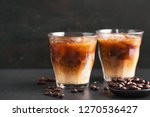 iced coffee in glasses   Shutterstock . vector #1270536427
