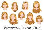 beautiful hairstyle woman... | Shutterstock .eps vector #1270536874
