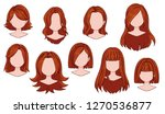 beautiful hairstyle woman... | Shutterstock .eps vector #1270536877