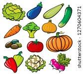 vegatables bright set for print ... | Shutterstock .eps vector #1270604371