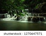 landscape photo view waterfall... | Shutterstock . vector #1270647571