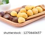 raw chestnut yanshan chestnut | Shutterstock . vector #1270660657