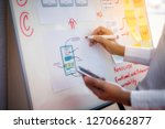 closeup hand of designer woman... | Shutterstock . vector #1270662877