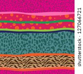 cute animal mix seamless... | Shutterstock .eps vector #127066721