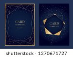 wedding invitation  universe... | Shutterstock .eps vector #1270671727