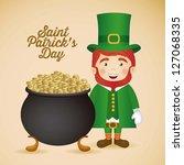 illustration of saint patrick's ... | Shutterstock .eps vector #127068335