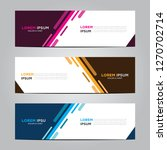 banner background.modern vector ... | Shutterstock .eps vector #1270702714