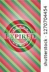 expired christmas emblem... | Shutterstock .eps vector #1270704454