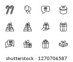 boxing day line icon set. set... | Shutterstock .eps vector #1270706587