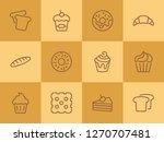 bakery line icon set.set of... | Shutterstock .eps vector #1270707481