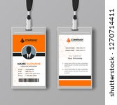 corporate orange id card design ... | Shutterstock .eps vector #1270714411