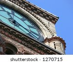 Stock photo closeup of the clock on old city hall toronto 1270715