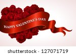 valentine s day heart shaped... | Shutterstock .eps vector #127071719