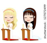 beautiful,blonde,brunette,candle,cartoon,catholic,caucasian,ceremony,children,christian,church,communion,confirmation,cute,down