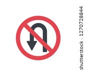 no turn sign | Shutterstock .eps vector #1270728844