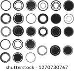 grunge post stamps collection ... | Shutterstock .eps vector #1270730767