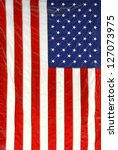 Small photo of hanging American flag