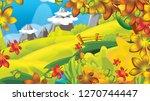 cartoon autumn nature...   Shutterstock . vector #1270744447