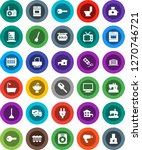 white solid icon set  plunger... | Shutterstock .eps vector #1270746721