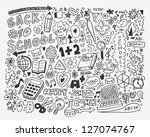 hand draw school element... | Shutterstock .eps vector #127074767