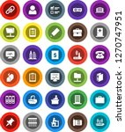white solid icon set  pencil... | Shutterstock .eps vector #1270747951