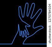 caring hand charity blue...