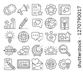 brand icon set. outline set of... | Shutterstock . vector #1270790017