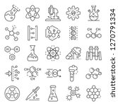 chemistry lab icon set. outline ... | Shutterstock . vector #1270791334