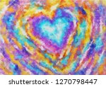 A Painting Of Colorful Heart ...