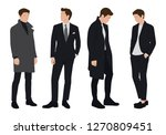 vector of young businessman ... | Shutterstock .eps vector #1270809451
