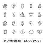 crystals flat line icons set.... | Shutterstock .eps vector #1270819777