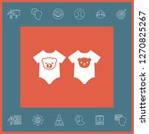 baby rompers icon. graphic... | Shutterstock .eps vector #1270825267