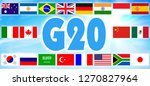 flags of the group of twenty.... | Shutterstock . vector #1270827964